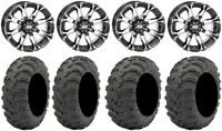 "STI HD3 12"" Wheels Machined 25"" Mud Lite AT Tires Honda Foreman Rancher SRA"