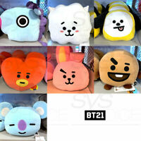 BTS BT21 Official Authentic Goods Flat Face Cushion 250x210mm + Tracking Number