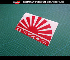 JDM LOGO Rasing sun MAZDA 3 6 RX8 RX7 MX5 Decal vinyl Sticker