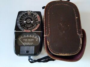 General Electric GE Exposure Light Meter 8DW58Y4 & Leather Case VINTAGE