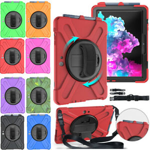 """For 10.5"""" Microsoft Surface Go 2 3 Tablet Rotating Stand Case Cover With Strap"""