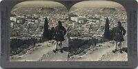 Panorama Atene E Da L Acropoli Foto Stereo Stereoview Vintage