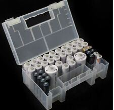 Batterie Box Aufbeahrung Koffer Plastik sortierer AA AAA 18650 Akkus Akku koffer