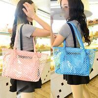 Women Girl Transparent Clear Shoulder Bag Handbag Jelly Purse PVC Beach Tote Bag