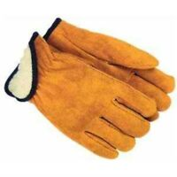 Large Lined Suede Cowhide Leather Gloves