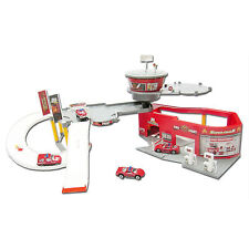World of Wheels Kids Extreme Rescue Team Fire Station Helicopter Pad Ages 3+ Toy