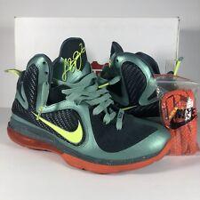 quality design b394d 55fbd Nike LEBRON IX 9 Cannon Men s Shoes 469764-004 Volt Slate Blue Orange Sz 9