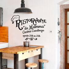 01418 Wall Stickers Adesivi Murali parete Aforisma Ristorante da mamma 60x43 cm