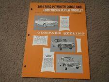 1960 FORD GALAXIE FAIRLANE 500 VS PLYMOUTH DODGE COMPARISON REVIEW BOOK BROCHURE