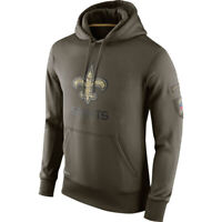 New Orleans Saints Hoodies Men's Sweatshirts Salute to Service Sideline Pullover
