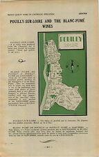 ADVERT Vineyard Wine Pouilly Sur Loire Blanc Fume MAP Foucher Henri Michel