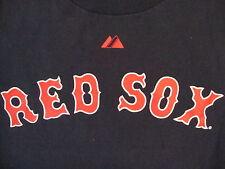 MLB Boston Red Sox Major League Baseball Fan Dustin Pedroia #15 Blue T Shirt S