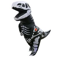 Adult Skeleton Inflatable Dinosaur Costume T-Rex Blow up Dino Fossil Costume