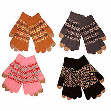 12 x Adult Winter Aztec Thermal Warm Touch Screen Gloves (I Mobile Phone)
