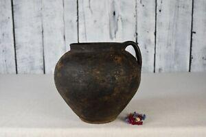 Vintage clay pot / Rustic ceramic bowl / Traditional ceramic vessel / Home decor