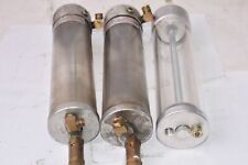 Lot of 3 Lube Devices Sight Glass Cylinders