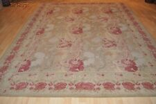 8' x 10' handmade hand-woven wool area rug French Aubuson design Siena #PM75