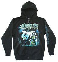 Aerosmith Group Photo Men's Black Zip Up Sweatshirt Hoodie New