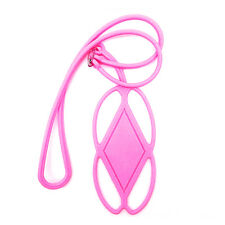 Silicone Lanyard Case for Cell Phone Cover Holder Wrist Strap Sling Necklace 6q Pink