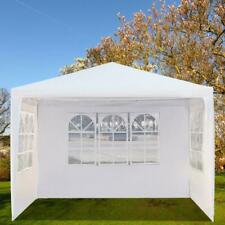 10'x10' Garden Outdoor Canopy Party Wedding Tent Gazebo Pavilion w/3 Window Wall