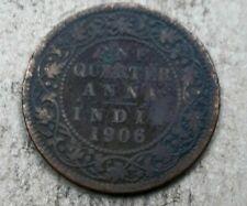 BRITISH INDIA 1/4 ANNA 1906 AU EDWARD VII