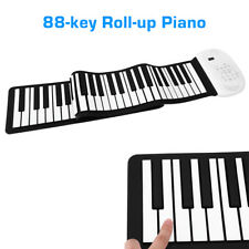 88 Keys Flexible Silicone Electronic Roll Up Piano Keyboard Built-in Speaker