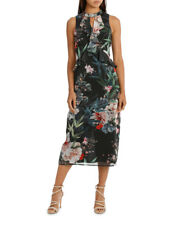 NEW Wayne Cooper Bamboo Floral Frill Neck Dress Assorted