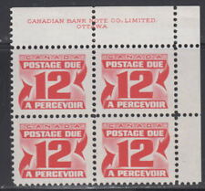 Canada #J36 12¢ CENTENNIAL POSTAGE DUE 2ND ISSUE UR PLATE BLOCK MNH