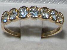 Aquamarine 9 Carat Yellow Gold Vintage Fine Jewellery