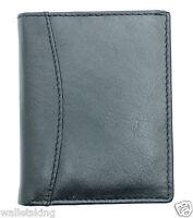Real Soft BLACK Leather Credit Card Holder Case Wallet For Mens / Womens - 603