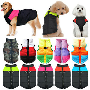 Puppy Pet Dog Vest Jackets Clothes Small/Large Winter Padded Coats Fashion