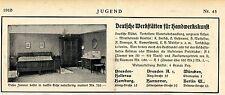 Deutsche Werkstätten für Handwerkskunst-Möbel Dresden Ad 1910