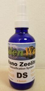 Eden Way NANO Zeolite Spray Detoxification System 4 oz in glass bottle FREE SHIP