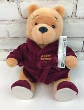 DISNEY HAPPY FATHER'S DAY BATHROBE WINNIE THE POOH BEAR SLIPPERS PLUSH JOINTED