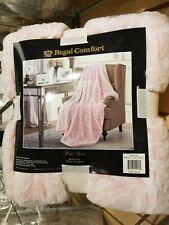 "Pink Rose Regal Comfort Oversized Throw Sherpa Ultra Plush Soft Blanket 50"" x 70"