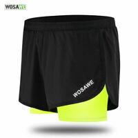 Mens Summer Casual Shorts 2 in 1 Running Wear Breathable Football Short Pants