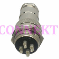 M20 20mm 4 Pin screw type Electrical Plug socket Connector