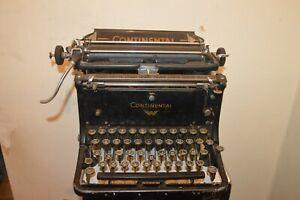 Antique Machine With Typewriter Continental Vintage 1920/1930 Typewritter
