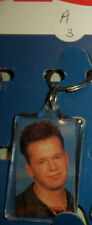 """DONNIE  FROM THE NEW KIDS ON THE BLOCK 1990 KEY CHAIN 1 3/8"""" X 2 1/2"""" IN SIZE"""