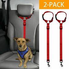 2xCat Dog Pet Safety Seat Belt Strap Restraint Harness Leash Travel Harness Lead
