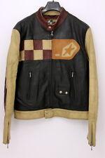 Diesel Industry Leather Biker Men's Jacket Size LARGE Cowhide Motorcycle Coat