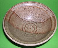 Studio Pottery - Attractive Stoneware Tri-Glaze Bowl / Dish - Fully Marked.