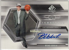 2004-05 SP AUTHENTIC SIGNATURE AUTO RC: BENO UDRIH #SP-BU AUTOGRAPH SPURS ROOKIE