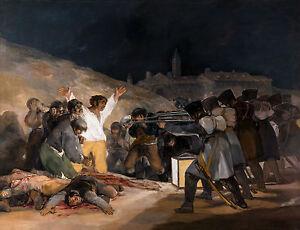 Francisco de Goya - The Third of May, 1814, Museum Art Poster, Canvas Print