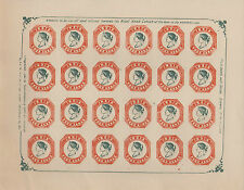 INDIA VICTORIA FOUR ANNAS FORGERY/FAKE/COUNTERFEIT SHEET OF STAMPS