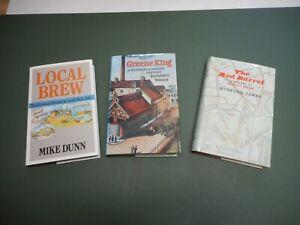 BREWERY HISTORY TITLES X3 GREENE KING MANNS LOCAL BREW  BOOKS/DJKTS VGC BEER