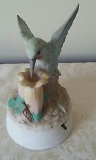 CROWNING TOUCH HUMMINGBIRD HAND PAINTED PORCELAIN MUSIC BOX   GREAT GIFT IDEA