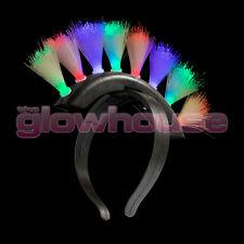 Light-Up Mohawk Headband Fiber Optic LED Reversible Flashing Band