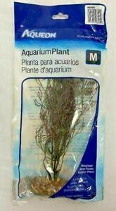 Aqueon Aquarium Plant with Weighted Base - Medium  Fish Tank/ Aquarium