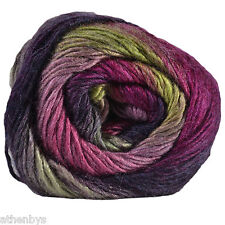 King Cole Riot DK Self Striping Striped Rainbow Knitting Wool Yarn 100g Funky 409